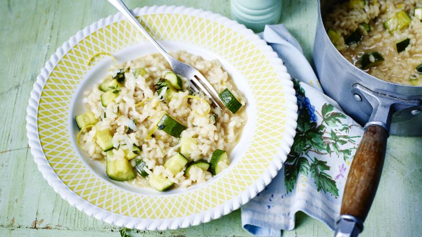 Courgette and lemon risotto