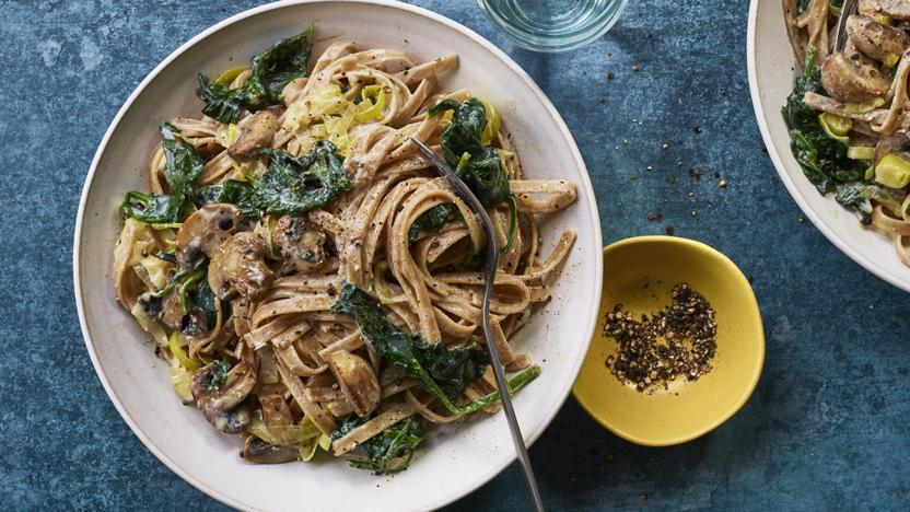 Creamy Mushroom Pasta Recipe Bbc Food