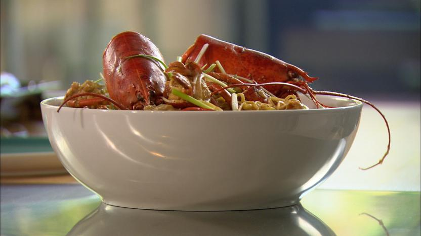 'Dragon prawn' noodles