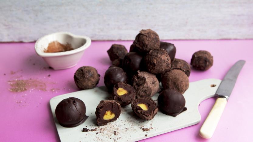 Easter simnel truffles
