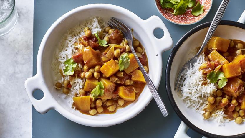 Easy chickpea and squash curry