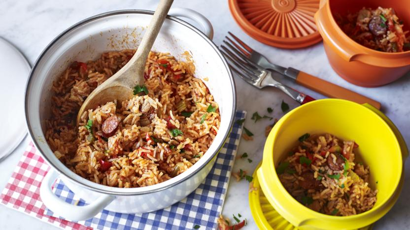 Easy jambalaya recipe bbc food easy jambalaya forumfinder Choice Image