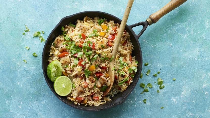 Fajita chicken fried rice