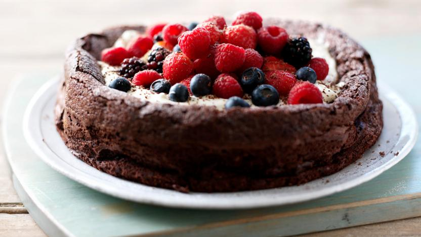Flourless Chocolate Cake Recipe Bbc Food