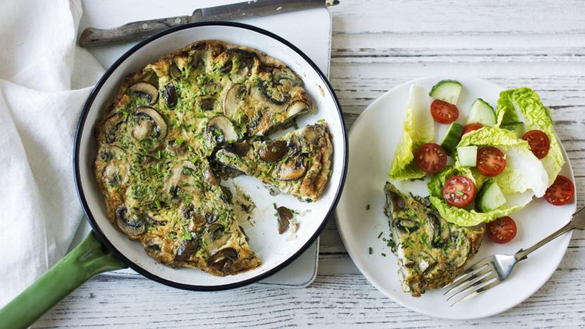 Garlic mushroom frittata recipe bbc food ingredients forumfinder Choice Image