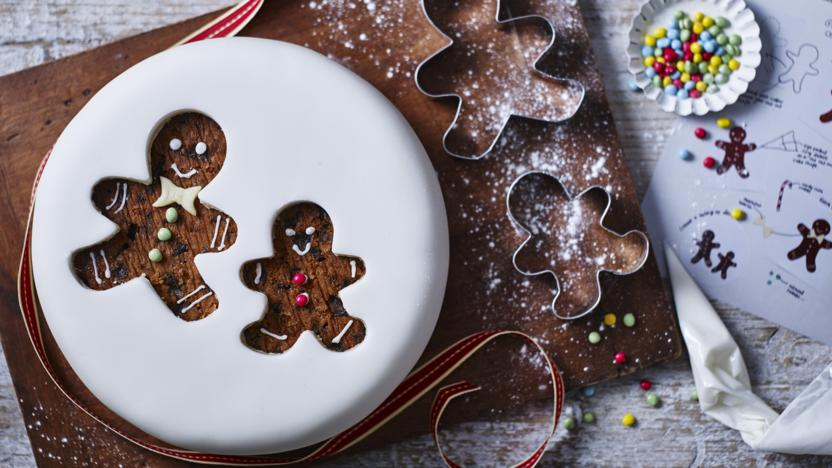 Gingerbread Man Christmas Cake Recipe Bbc Food