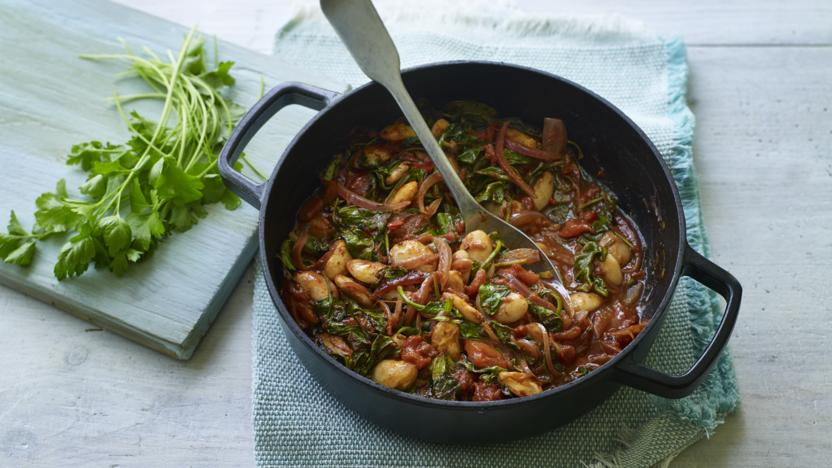 Greek-style beans