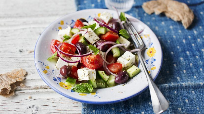 Greek salad recipe bbc food greek salad forumfinder Choice Image
