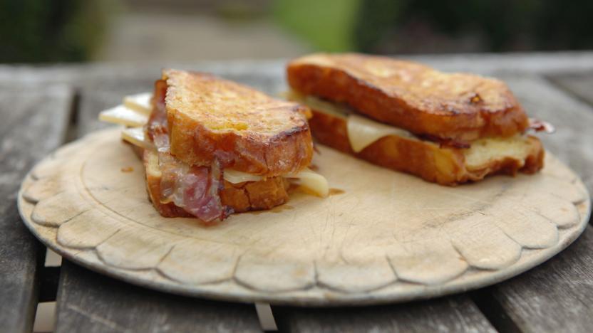 Gruyère and pancetta brioche sandwich