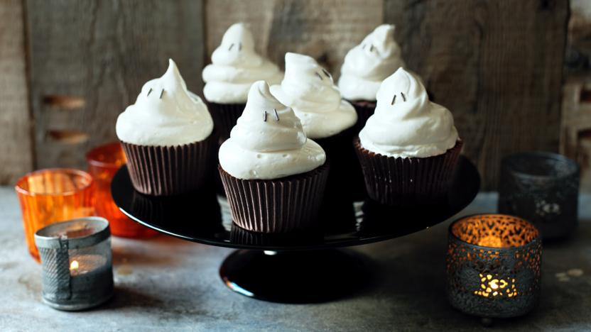 Cupcakes Recipe Uk Easy: Halloween Ghost Cupcakes Recipe