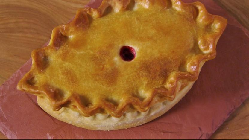 Hand-raised Boxing Day pie