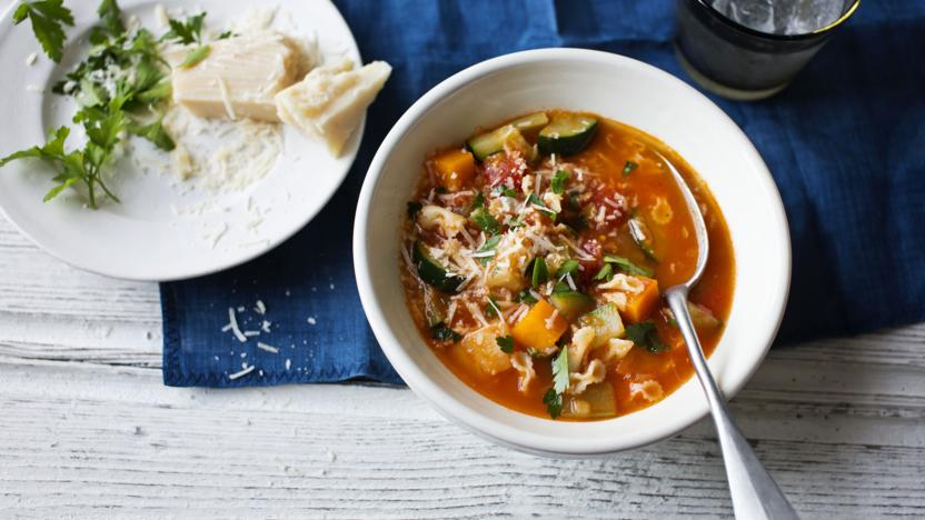 Healthy Minestrone Soup Recipe Bbc Food