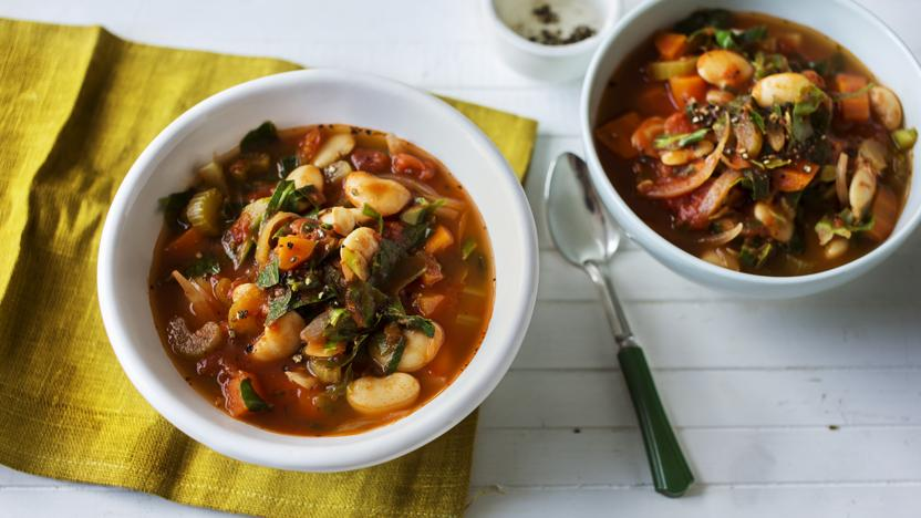 Hearty vegetable soup recipe bbc food hearty vegetable soup forumfinder