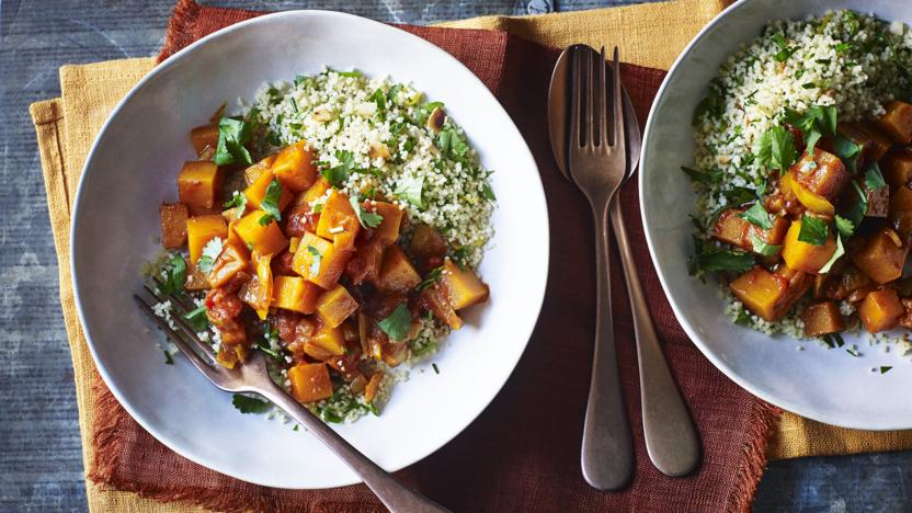 Butternut squash tagine with couscous