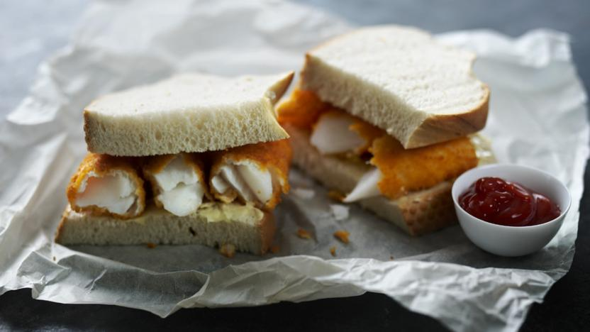 Phrase hairy fish sandwitch with