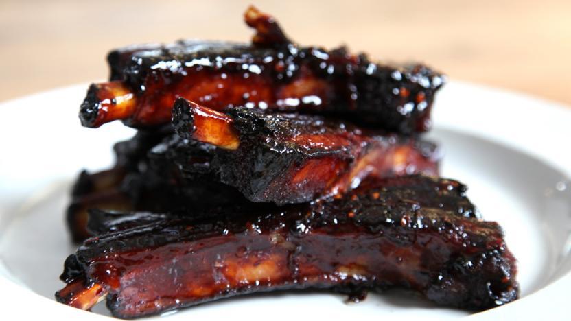 Honey roast ribs with anise