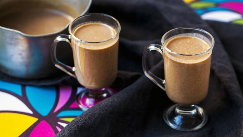 Vegan hot coconut drink
