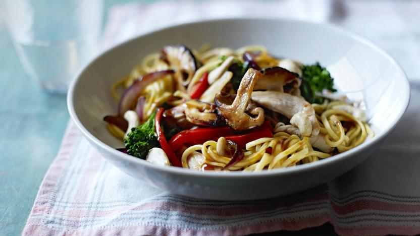 Chicken Noodle Stir Fry Recipe Bbc Food