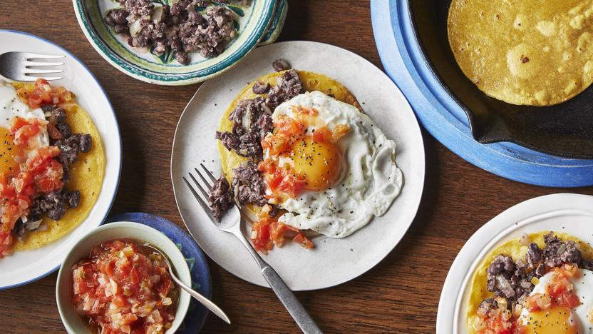 Spicy Mexican Eggs Huevos Rancheros Recipe Bbc Food