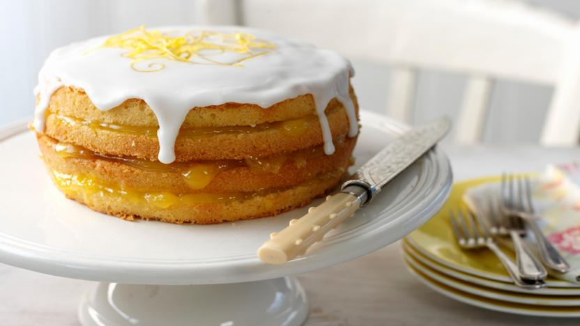 Iced Lemon Curd Layer Cake Recipe