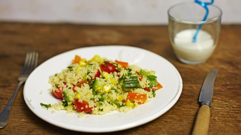 Kid's customised couscous salad
