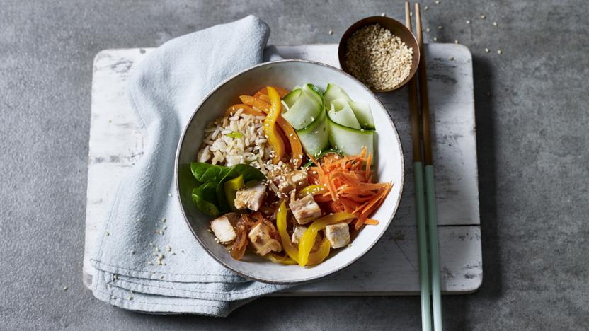 Korean-inspired turkey bowl