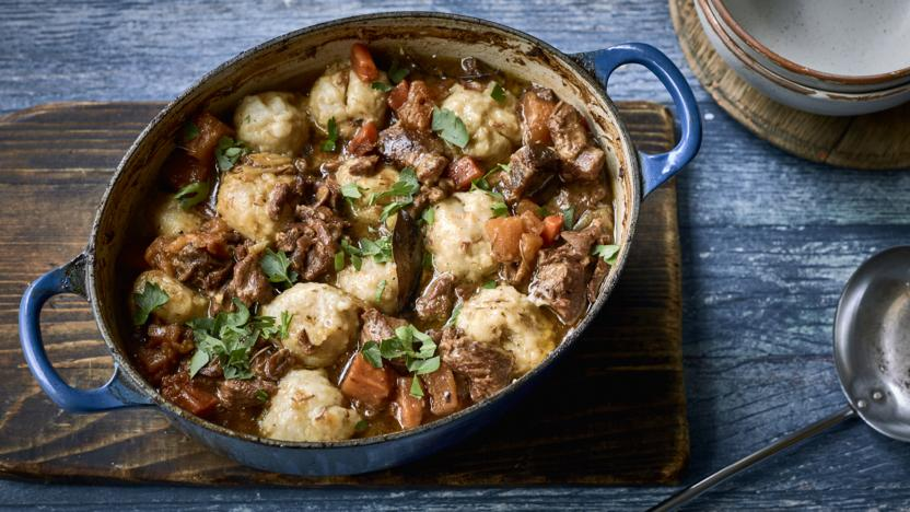 Lamb stew with rosemary dumplings