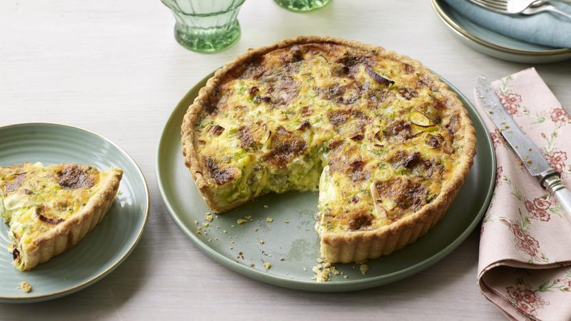 Leek and Stilton quiche