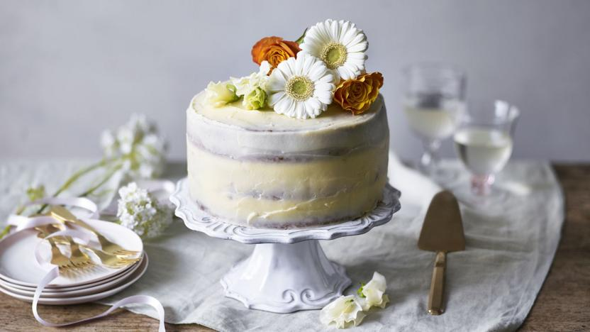 Lemon and elderflower cake