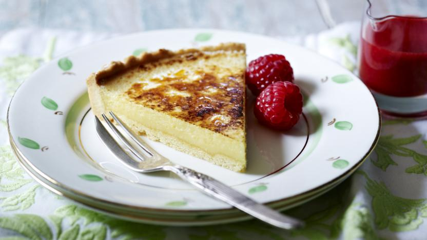 Lemon and mascarpone tart