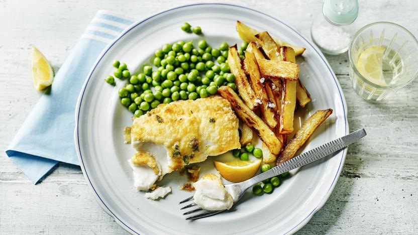 Lighter fish and chips recipe bbc food ingredients forumfinder Choice Image