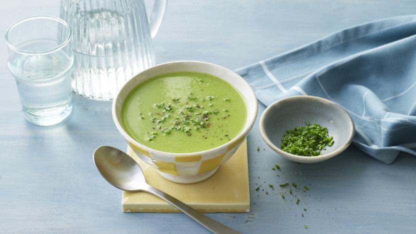 Lighter pea soup