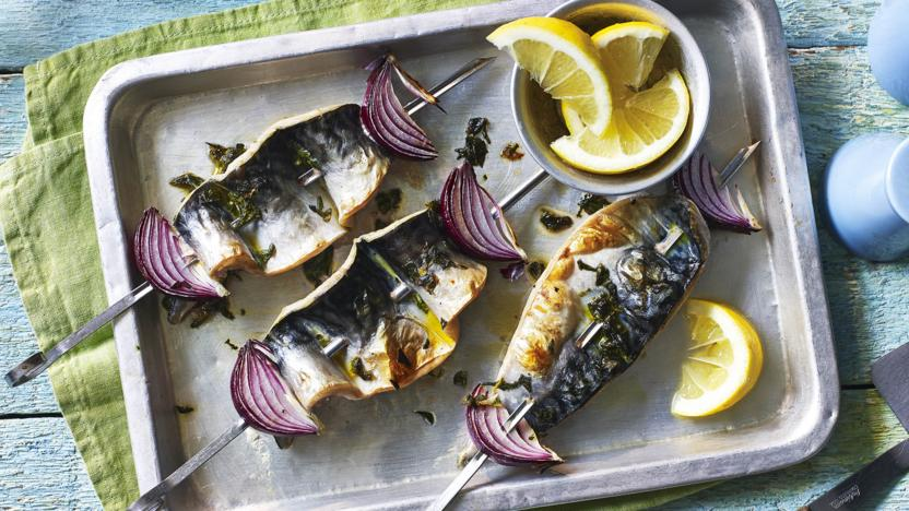 Mackerel kebabs