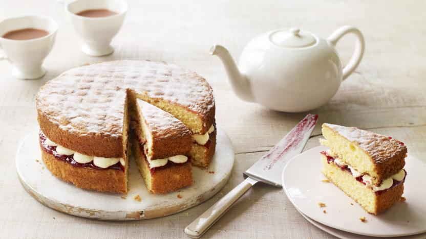 Mary's Victoria sandwich with buttercream