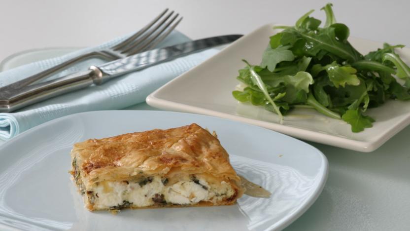Mediterranean filo pastry pie