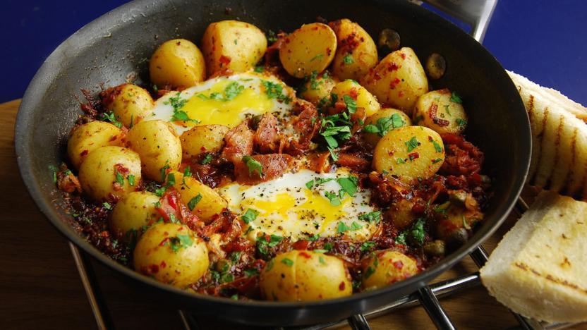Nduja and potato hash