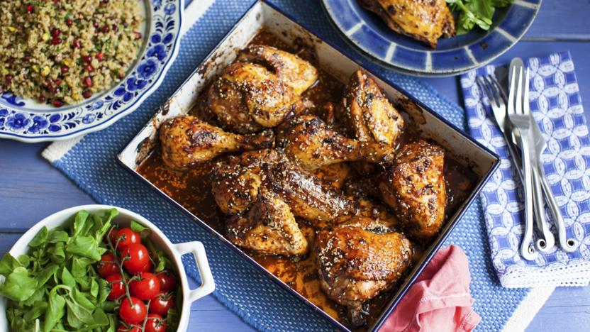 Oven Roasted Chicken With Sumac And Pomegranate Molasses Recipe