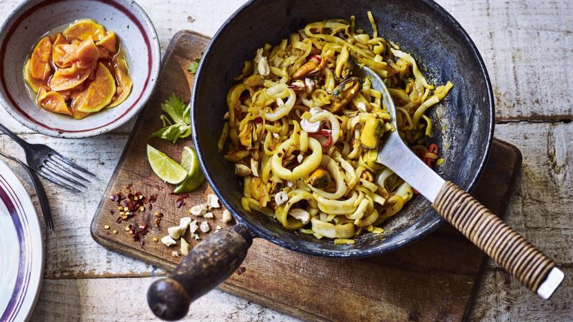 Nadiya S Pad Thai Recipe Bbc Food