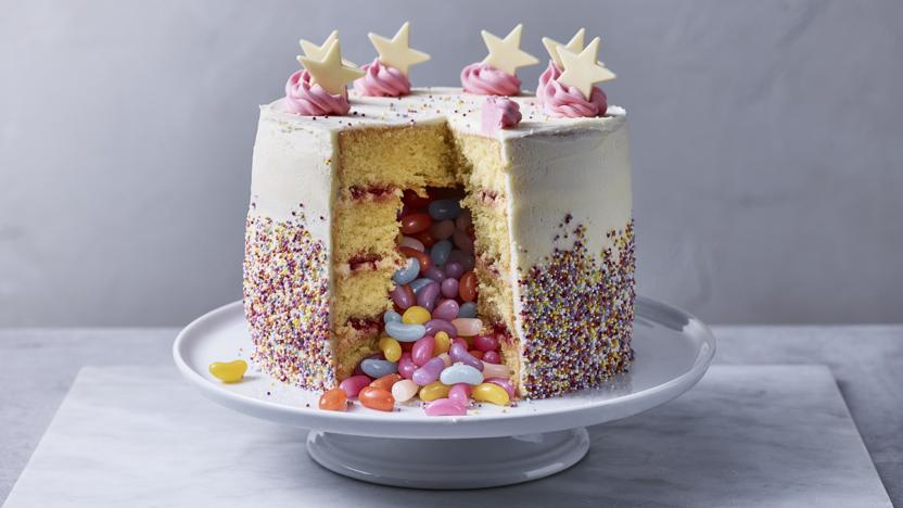 Excellent Pinata Cake Recipe Bbc Food Funny Birthday Cards Online Elaedamsfinfo