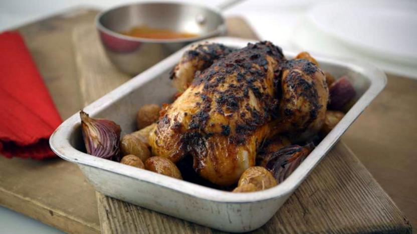 Piri Piri Roast Chicken Recipe Bbc Food