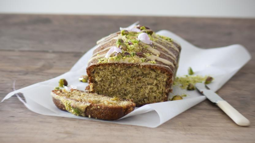 Pistachio Cardamom And Lemon Drizzle Cake