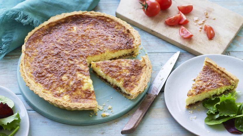 Ploughman's cheese and pickle tart