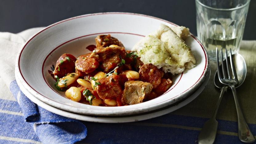 Pork, chorizo and butter bean stew