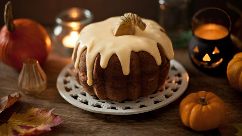 Pumpkin cake recipe bbc food for Cake recipe ideas uk