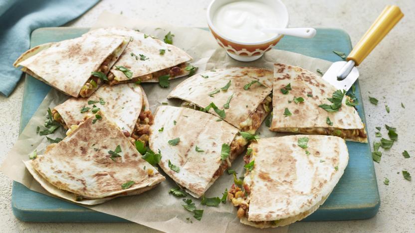 Easy vegetarian quesadilla