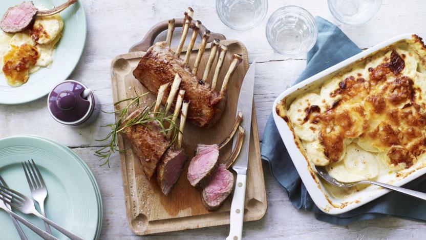 Rack of lamb with potato dauphinoise