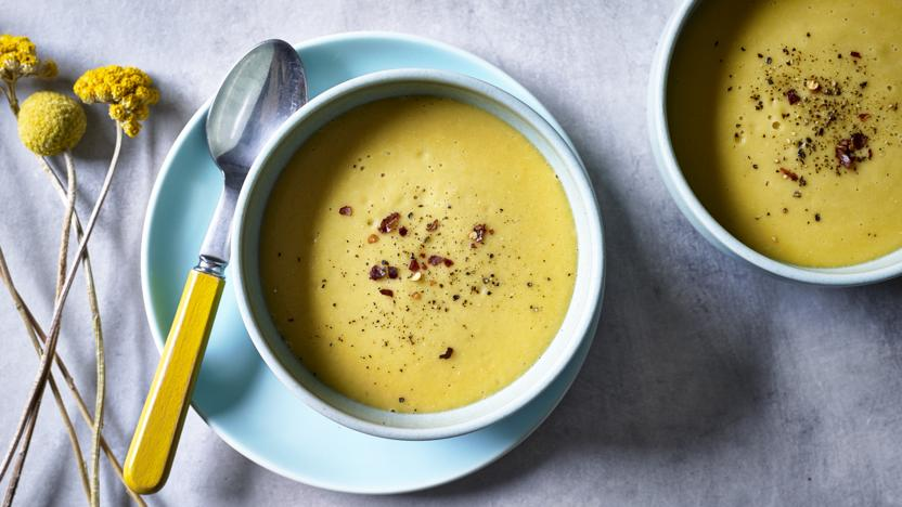 Creamy parsnip and apple soup recipe - BBC Food