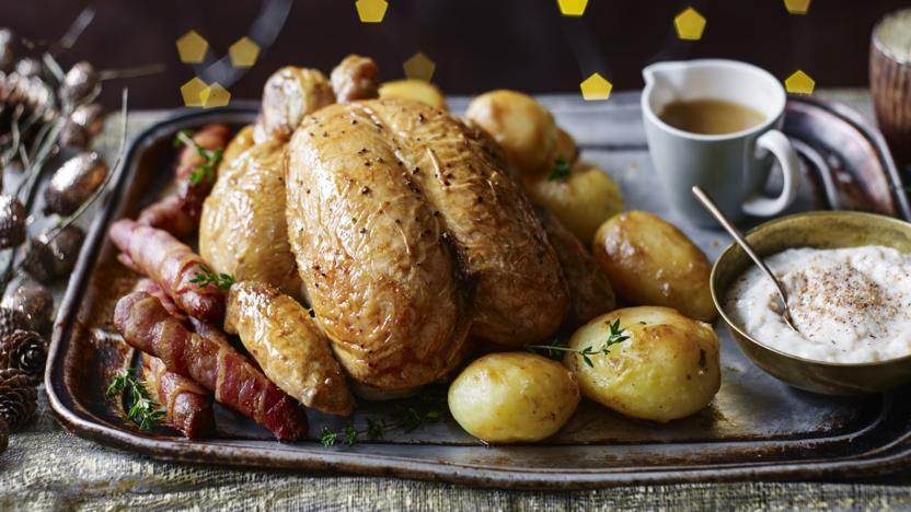 Perfect roast chicken dinner