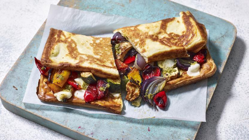 Veggie roast Yorkshire pudding wrap