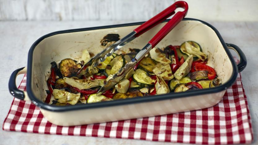 Roasted vegetables recipe bbc food roasted vegetables forumfinder Image collections